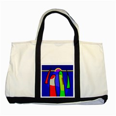 Colorful snakes Two Tone Tote Bag