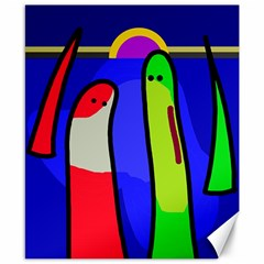Colorful snakes Canvas 8  x 10