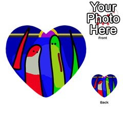 Colorful snakes Multi-purpose Cards (Heart)