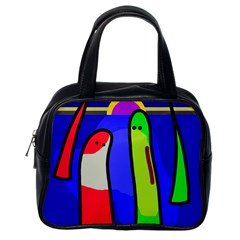 Colorful snakes Classic Handbags (One Side)