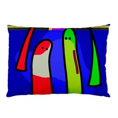 Colorful snakes Pillow Case