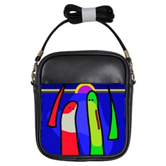Colorful snakes Girls Sling Bags