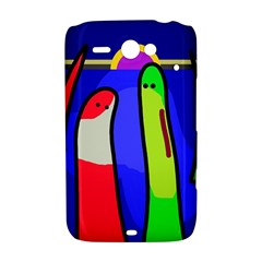 Colorful snakes HTC ChaCha / HTC Status Hardshell Case