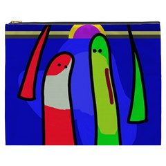 Colorful snakes Cosmetic Bag (XXXL)