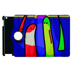 Colorful snakes Apple iPad 3/4 Flip 360 Case