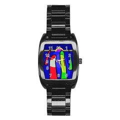 Colorful snakes Stainless Steel Barrel Watch