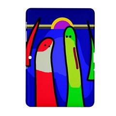 Colorful snakes Samsung Galaxy Tab 2 (10.1 ) P5100 Hardshell Case
