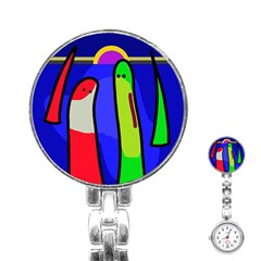 Colorful snakes Stainless Steel Nurses Watch
