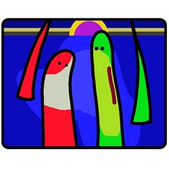 Colorful snakes Double Sided Fleece Blanket (Medium)