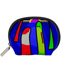 Colorful snakes Accessory Pouches (Small)