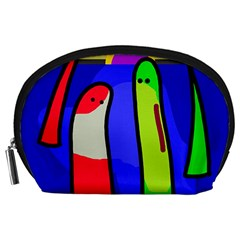 Colorful snakes Accessory Pouches (Large)