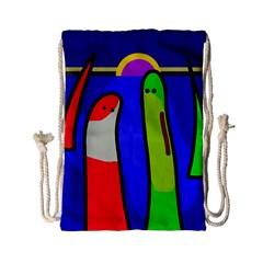 Colorful snakes Drawstring Bag (Small)