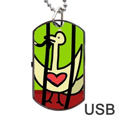 Duck Dog Tag USB Flash (Two Sides)