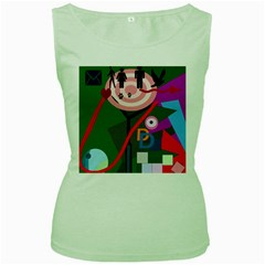 Party Women s Green Tank Top