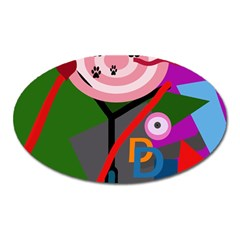 Party Oval Magnet