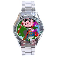 Party Stainless Steel Analogue Watch