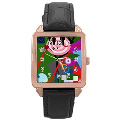 Party Rose Gold Leather Watch