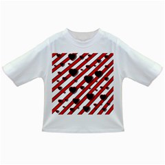 Black and red harts Infant/Toddler T-Shirts