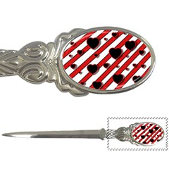 Black and red harts Letter Openers