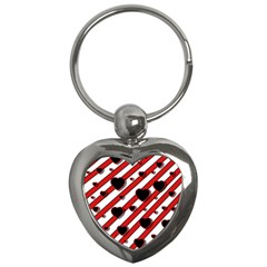 Black and red harts Key Chains (Heart)