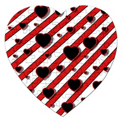 Black and red harts Jigsaw Puzzle (Heart)