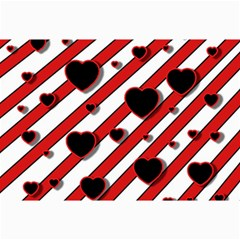 Black and red harts Collage Prints