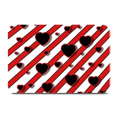 Black and red harts Plate Mats