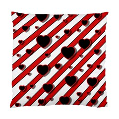 Black and red harts Standard Cushion Case (Two Sides)