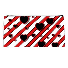 Black and red harts Pencil Cases