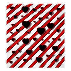 Black and red harts Shower Curtain 66  x 72  (Large)