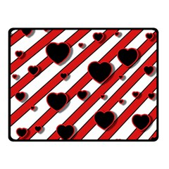 Black and red harts Fleece Blanket (Small)