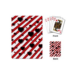 Black and red harts Playing Cards (Mini)