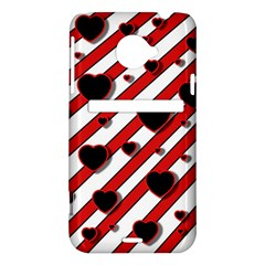 Black and red harts HTC Evo 4G LTE Hardshell Case