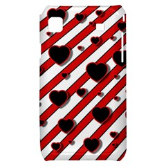 Black and red harts Samsung Galaxy S i9000 Hardshell Case