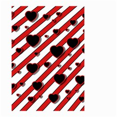 Black and red harts Small Garden Flag (Two Sides)