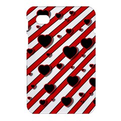 Black and red harts Samsung Galaxy Tab 7  P1000 Hardshell Case