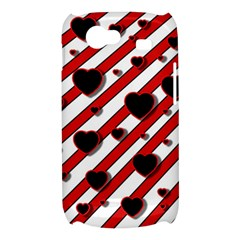 Black and red harts Samsung Galaxy Nexus S i9020 Hardshell Case