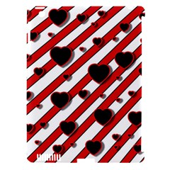 Black and red harts Apple iPad 3/4 Hardshell Case (Compatible with Smart Cover)