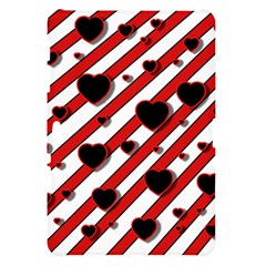 Black and red harts Samsung Galaxy Tab 10.1  P7500 Hardshell Case