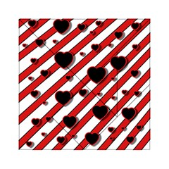 Black and red harts Acrylic Tangram Puzzle (6  x 6 )