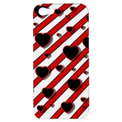 Black and red harts Apple iPhone 5 Hardshell Case