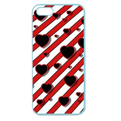 Black and red harts Apple Seamless iPhone 5 Case (Color)