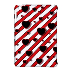 Black and red harts Apple iPad Mini Hardshell Case (Compatible with Smart Cover)