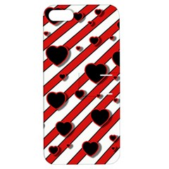 Black and red harts Apple iPhone 5 Hardshell Case with Stand
