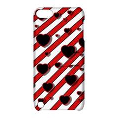Black and red harts Apple iPod Touch 5 Hardshell Case with Stand