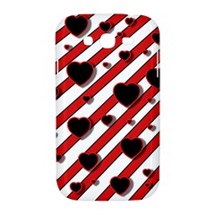Black and red harts Samsung Galaxy Grand DUOS I9082 Hardshell Case