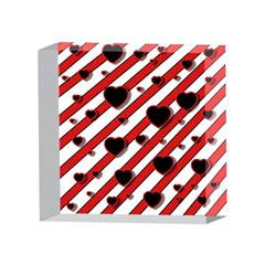 Black and red harts 4 x 4  Acrylic Photo Blocks