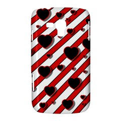 Black and red harts Samsung Galaxy Duos I8262 Hardshell Case