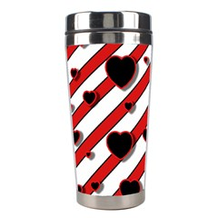 Black and red harts Stainless Steel Travel Tumblers