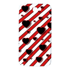 Black and red harts Samsung Note 2 N7100 Hardshell Back Case